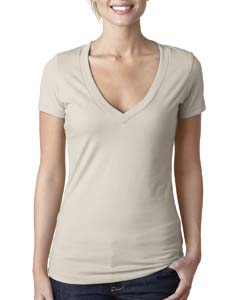 Sand Ladies CVC Deep V Tee