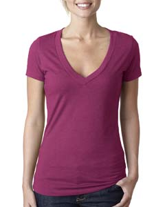 Lush Ladies CVC Deep V Tee