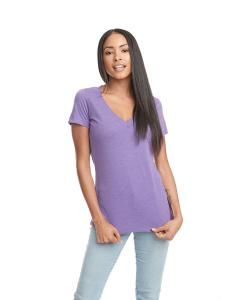 Purple Berry Ladies CVC Deep V Tee