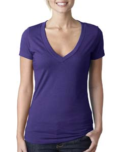 Purple Rush Ladies CVC Deep V Tee