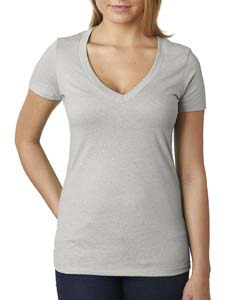 Silk Ladies CVC Deep V Tee