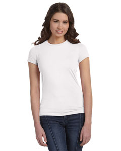 White Women's Poly-Cotton Short-Sleeve T-Shirt