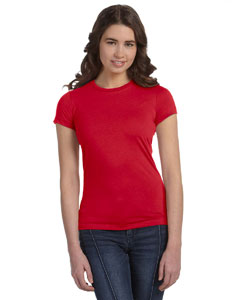 Red Women's Poly-Cotton Short-Sleeve T-Shirt