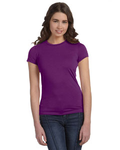 Team Purple Women's Poly-Cotton Short-Sleeve T-Shirt