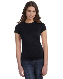 Black Women's Poly-Cotton Short-Sleeve T-Shirt