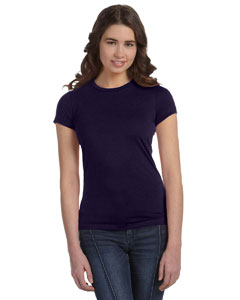 Navy Women's Poly-Cotton Short-Sleeve T-Shirt
