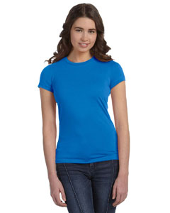 Neon Blue Women's Poly-Cotton Short-Sleeve T-Shirt
