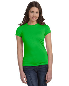 Neon Green Women's Poly-Cotton Short-Sleeve T-Shirt