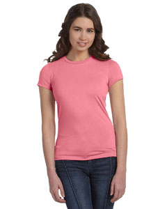 Neon Pink Women's Poly-Cotton Short-Sleeve T-Shirt