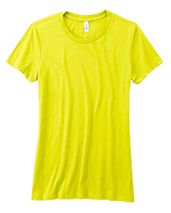 Neon Yellow Women's Poly-Cotton Short-Sleeve T-Shirt