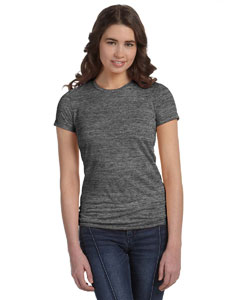 Charcoal Marble Women's Poly-Cotton Short-Sleeve T-Shirt