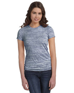 Navy Marble Women's Poly-Cotton Short-Sleeve T-Shirt