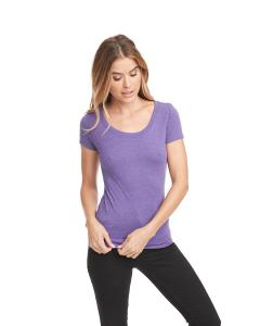 Purple Rush Ladies Triblend Scoop Tee