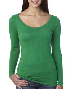 Envy Ladies Triblend Long Sleeve Scoop Tee