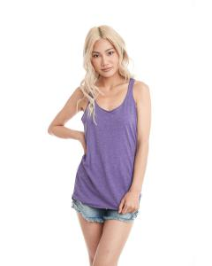 Purple Rush Ladies Triblend Racerback Tank