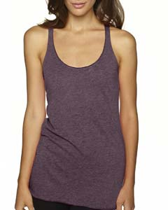 Vintage Purple Ladies Triblend Racerback Tank