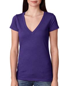 Purple Rush Ladies Triblend Deep-V Tee