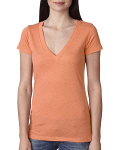 Vin Light Orang Ladies Triblend Deep-V Tee