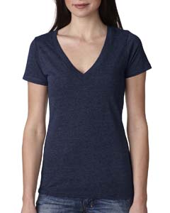 Vintage Navy Ladies Triblend Deep-V Tee