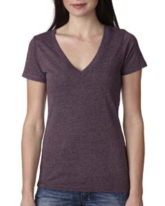 Vintage Purple Ladies Triblend Deep-V Tee