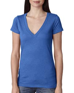 Vintage Royal Ladies Triblend Deep-V Tee