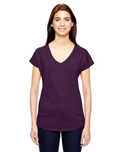 Hth Aubergine Ladies Triblend V-Neck T-Shirt