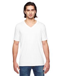 White Triblend V-Neck T-Shirt