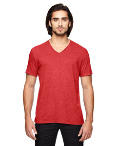 Heather Red Triblend V-Neck T-Shirt