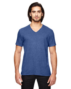 Heather Blue Triblend V-Neck T-Shirt