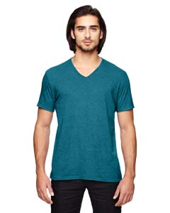 Hth Galop Blue Triblend V-Neck T-Shirt