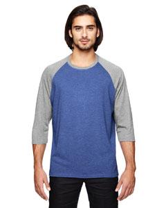 Hth Bl/ Tr H Gry Triblend 3/4-Sleeve Raglan T-Shirt