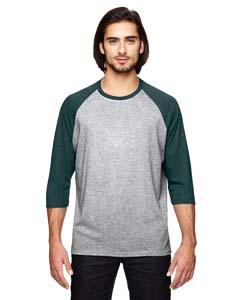 Ht Gr/ Ht Dk Gry Triblend 3/4-Sleeve Raglan T-Shirt