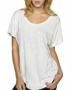 Heather White Ladies Triblend Dolman