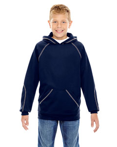 Classic Navy 849 Youth Pivot Performance Fleece Hoodie