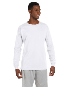 White Cotton Long-Sleeve T-Shirt