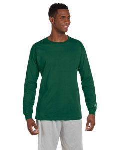 Dark Green Cotton Long-Sleeve T-Shirt