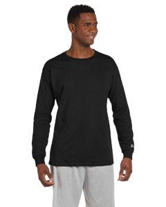 Black Cotton Long-Sleeve T-Shirt