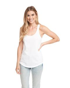 White Ladies Terry Racerback Tank