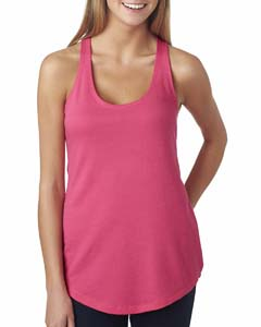 Hot Pink Ladies Terry Racerback Tank