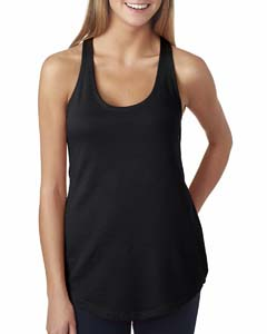 Black Ladies Terry Racerback Tank