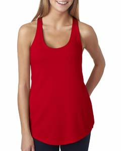 Red Ladies Terry Racerback Tank