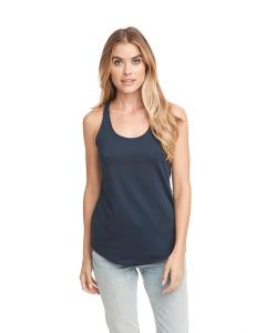 Midnight Navy Ladies Terry Racerback Tank