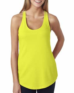 Neon Yellow Ladies Terry Racerback Tank