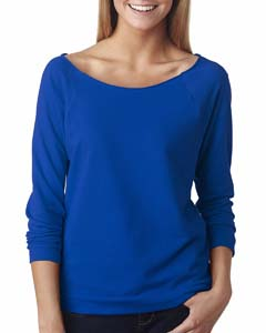 Royal Ladies Terry Raw-Edge 3/4-Sleeve Raglan Tee