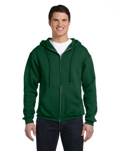 Dark Green Dri-Power® Fleece Full-Zip Hood