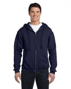 J Navy Dri-Power® Fleece Full-Zip Hood
