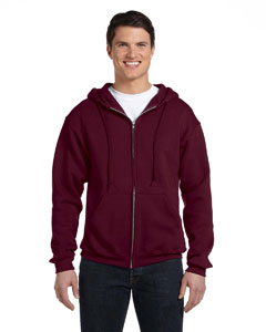 Maroon Dri-Power® Fleece Full-Zip Hood