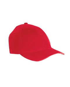 Red Garment-Washed Twill Cap
