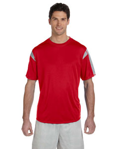 True Red/steel Short-Sleeve Performance T-Shirt