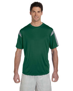 Dark Green/steel Short-Sleeve Performance T-Shirt